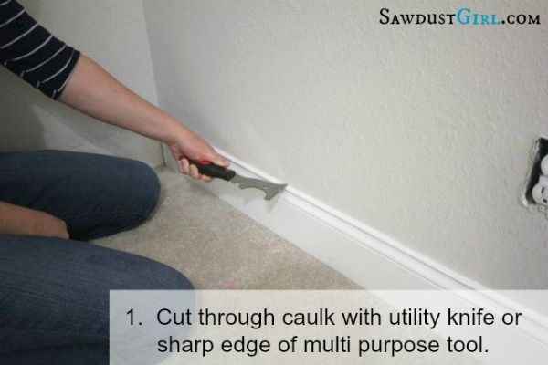 Removing Baseboard Without Damage Removing Baseboards Baseboards Sawdust Girl