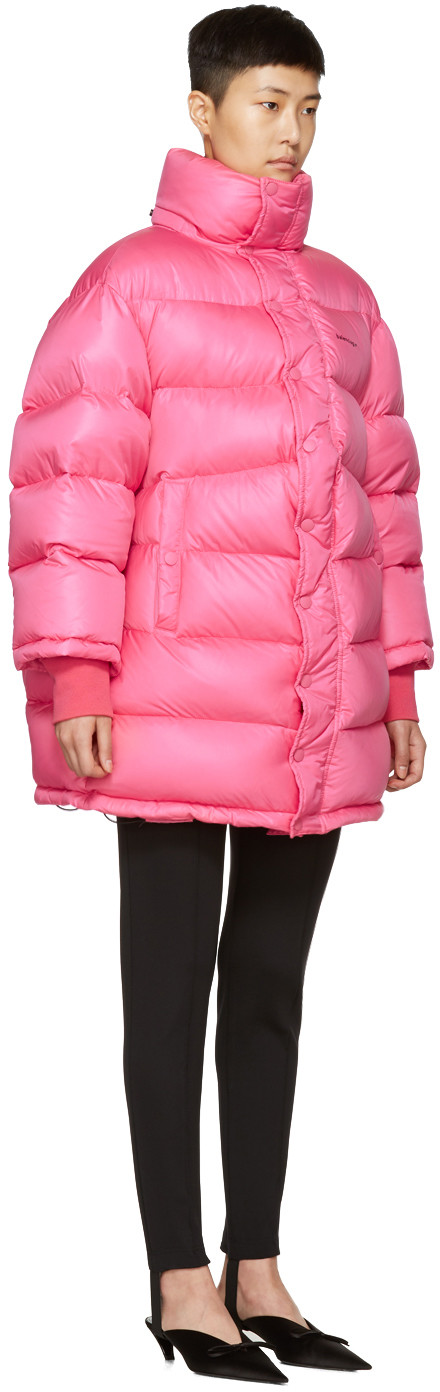 56e46431c8bc0 Balenciaga - Pink Outerspace Puffer Jacket