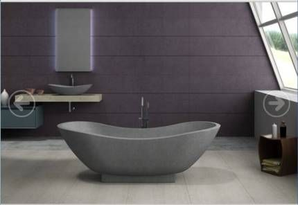 1800 mango designer stone freestanding stone bath bathtub | building