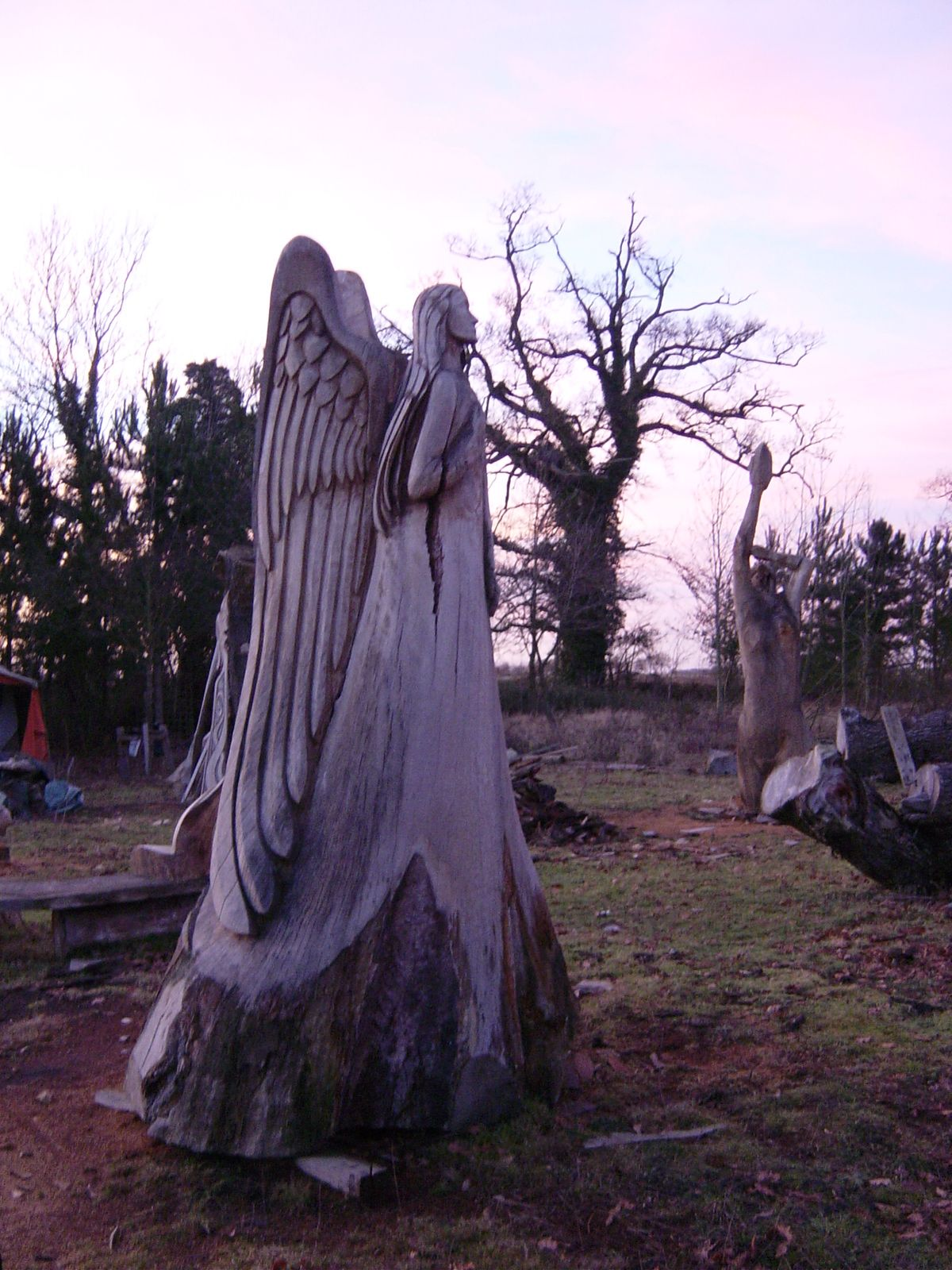 Angel chainsaw carvings chainsaw carvings wood and tree carvings