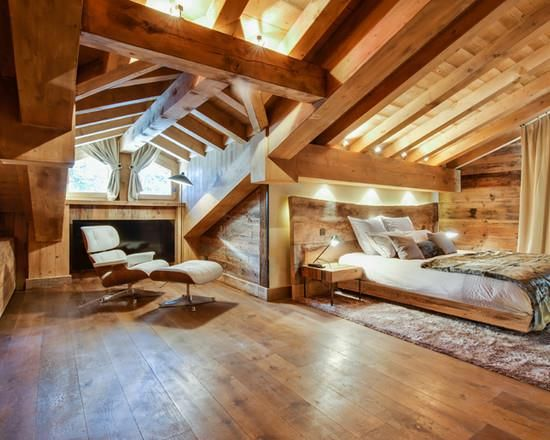 Chambre de chalet en bois | Idées Chambres | Pinterest | Chalet en ...