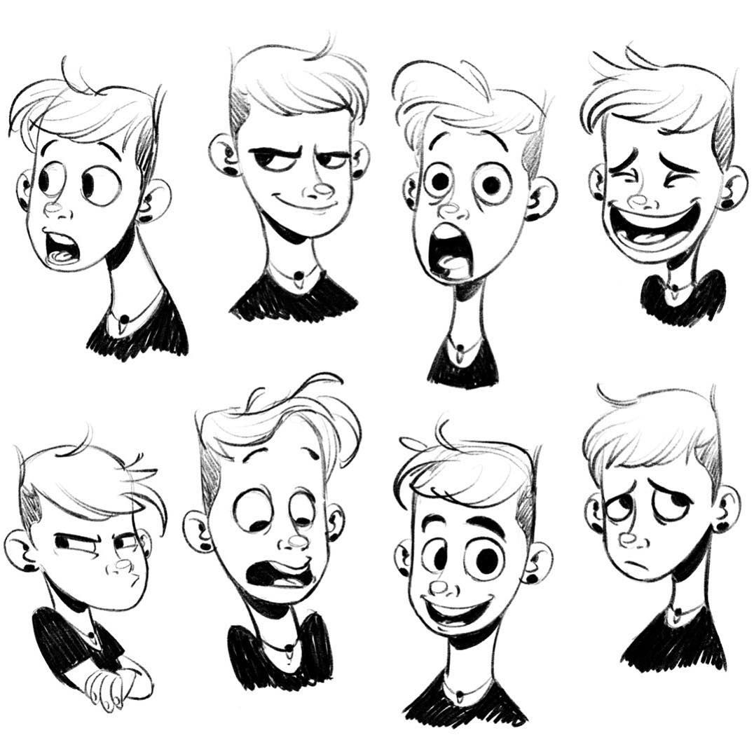 Line Drawings Of Facial Expressions : A little work on some expressions so good to comeback