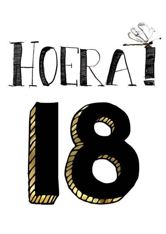 afbeelding 18 jaar Verjaardagskaart 18 jaar, verkrijgbaar bij #kaartje2go voor € 1,89  afbeelding 18 jaar