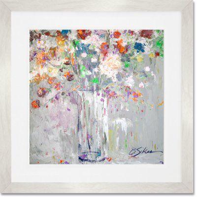 """GreenBox Art 'Fresh Picks' Framed Painting Print on Paper Size: 14"""" H x 14"""" W x 1.25"""" D, Frame Color: Matt White"""
