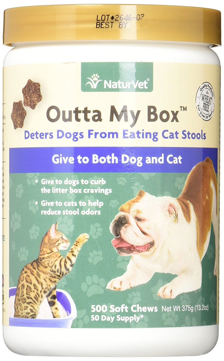 Naturvet Outta My Box Cat Stool Deterrant For Dogs And Cats 500 Soft Chews To View Further For This Item Visit The Image Link Thi Dogs Dog Cat Dog Diet