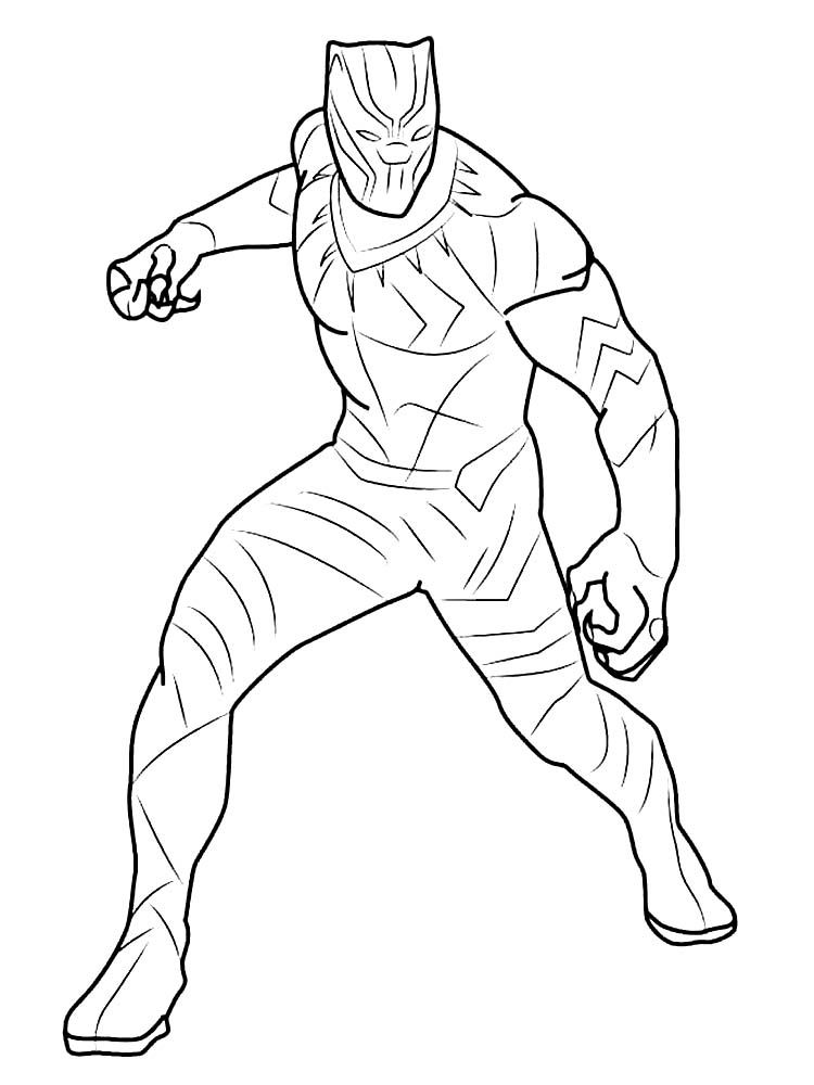 Black Panther Coloring Pages Online Avengers Coloring Pages Cartoon Coloring Pages Black Panther Drawing