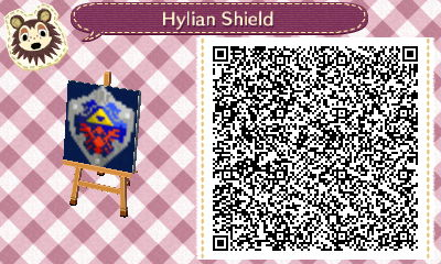 Hylian Shield Animal Crossing Qr Acnl Paths Animal Crossing
