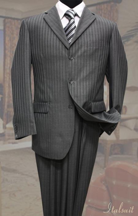 Da Uomo Gangster Costume Gessato Zoot Suit Vintage 20s Mafia Outfit Costume