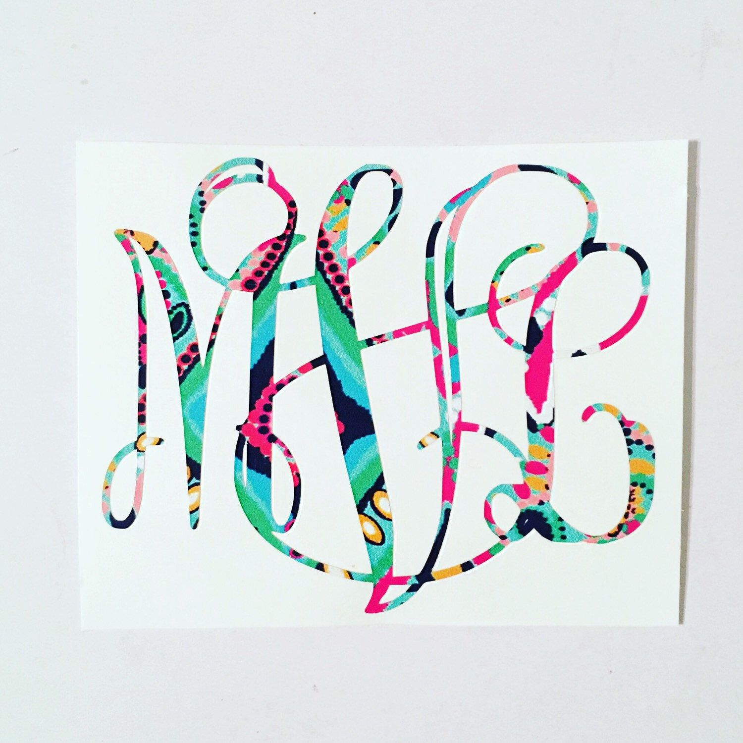 Lilly Pulitzer Vine monogram decal