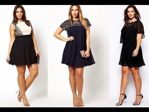 6bf136951 Ropa para Gorditas   vestidos negro para gorditas - YouTube