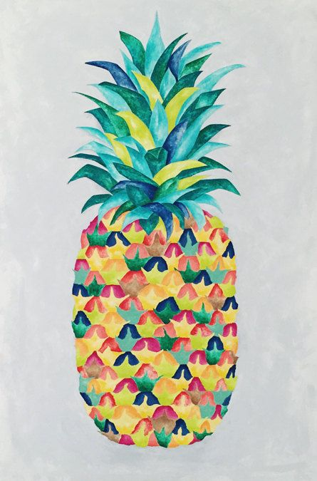 Crazy Pineapple Print By Artist Kate Zitzer Available In