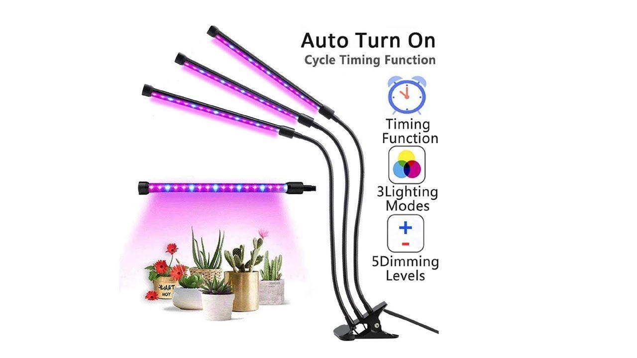 Povida 3 Head Plant Light Led Grow Lights For Indoor 400 x 300