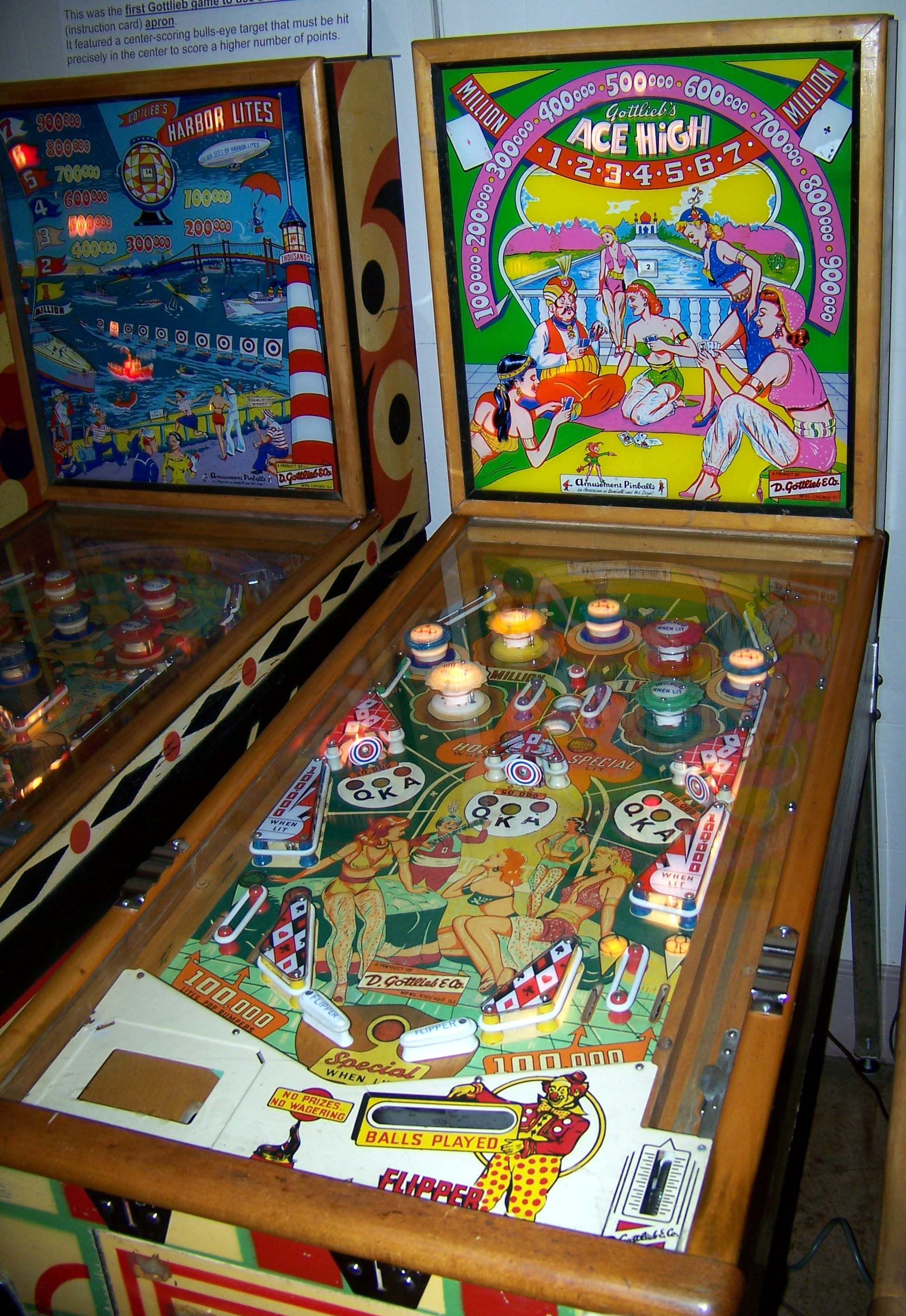 "1957 Ace High ""Gottlieb "" Pinball Machine 