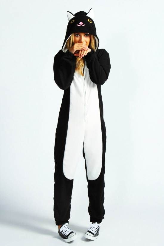 087a5b197 Black Cat Hooded Adult Onesie - Australia Qld | Onesies | Onesie ...