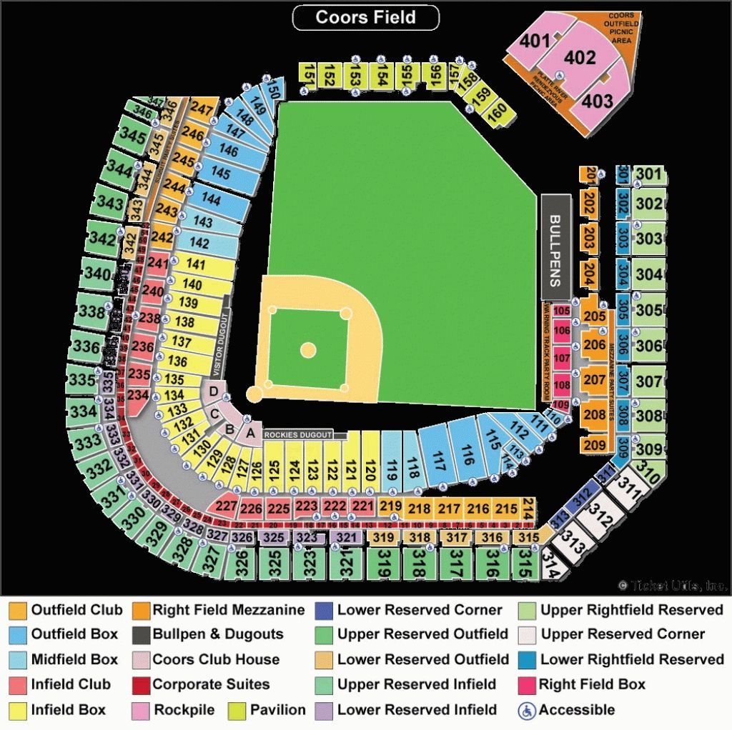 The Most Elegant Coors Field Seating Chart Colorado Rockies Seating Charts Coors