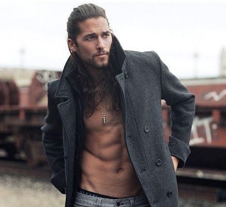 2 Twitter Long Hair Styles Men Dark Haired Men Long Hair Models