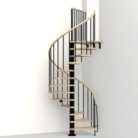 Arke Phoenix 47 In X 10 Ft Black Spiral Staircase Kit K07082
