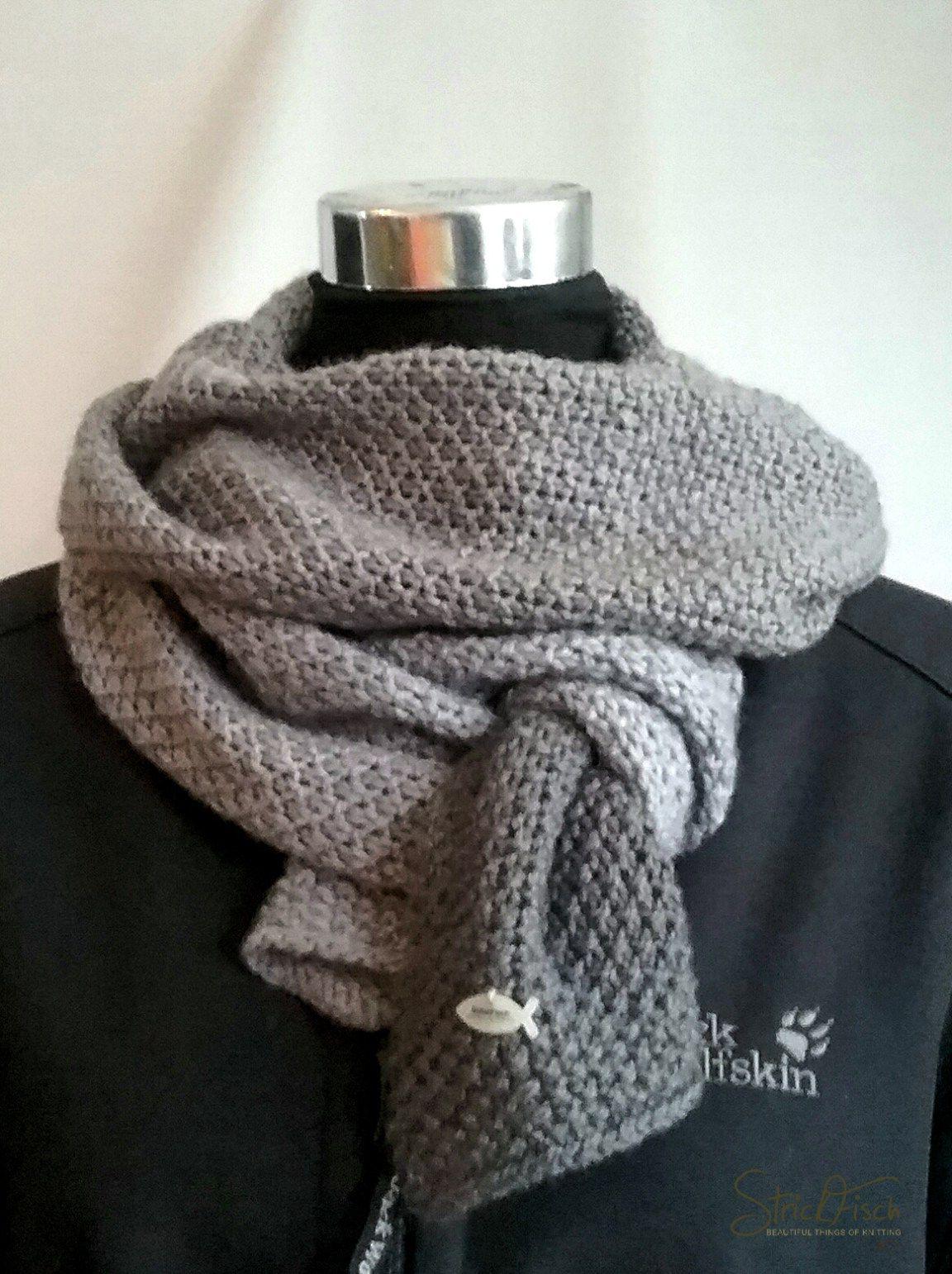 Einfacher Herren Schal Stricken Pinterest Stricken Schal