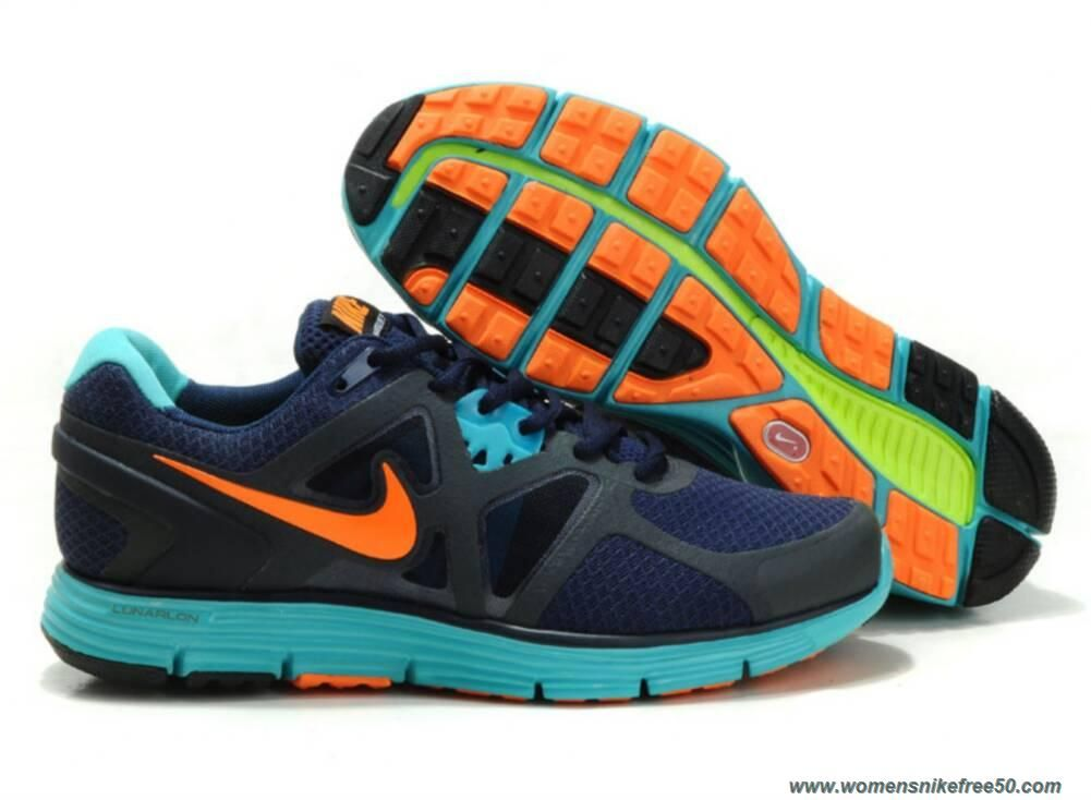 a195f1b8482d Blue Gray Orange 454164-002 Nike Lunarglide 3 Mens Sale