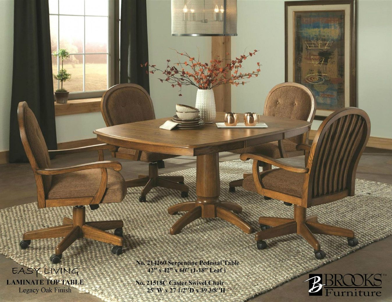 99 Dining Room Table With Swivel Chairs  Modern Rustic Furniture Captivating Leather Swivel Dining Room Chairs Inspiration Design