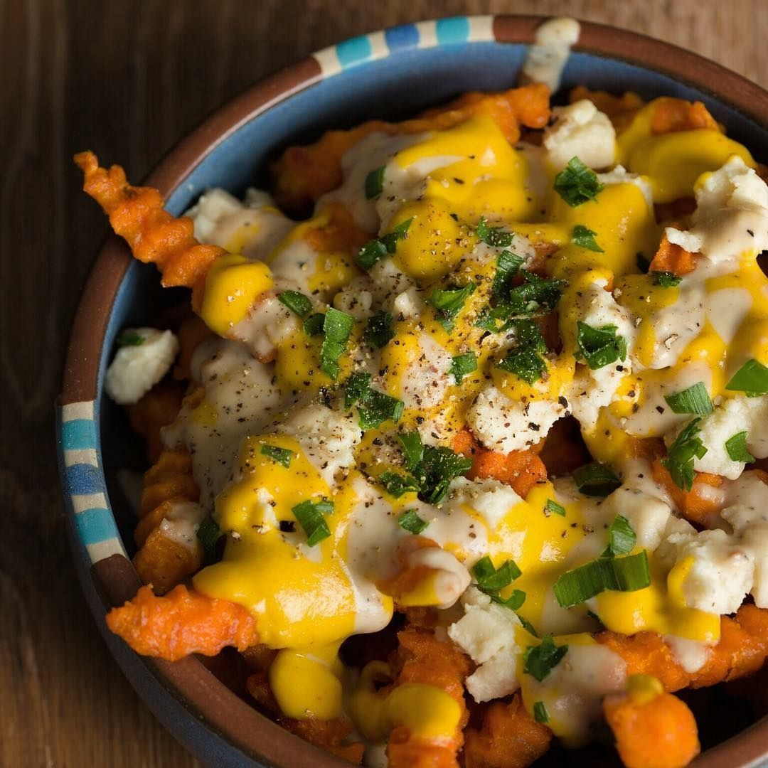 Healthy Vegan Cheese Fries In 2020 Whole Food Recipes Delicious Healthy Vegan Cheese