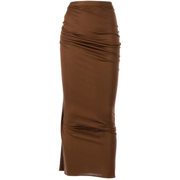 GIVENCHY straight maxi skirt (£407) ❤ liked on Polyvore featuring skirts, bottoms, silk skirt, silk maxi skirt, long silk skirt, draped maxi skirt and fitted skirts