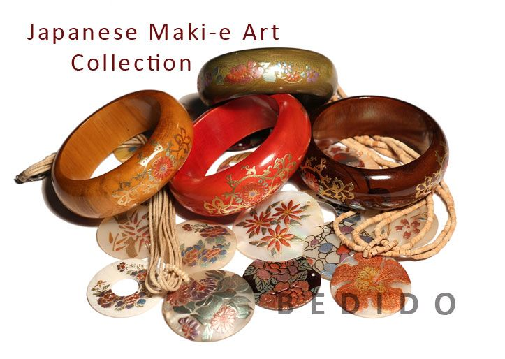 Japanese Maki E Art Painting Jewelry