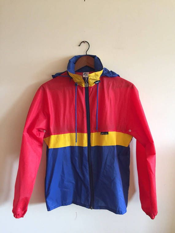 9c255261aecc Early 1990 s Vintage K Way Windbreaker Jacket. Coat.