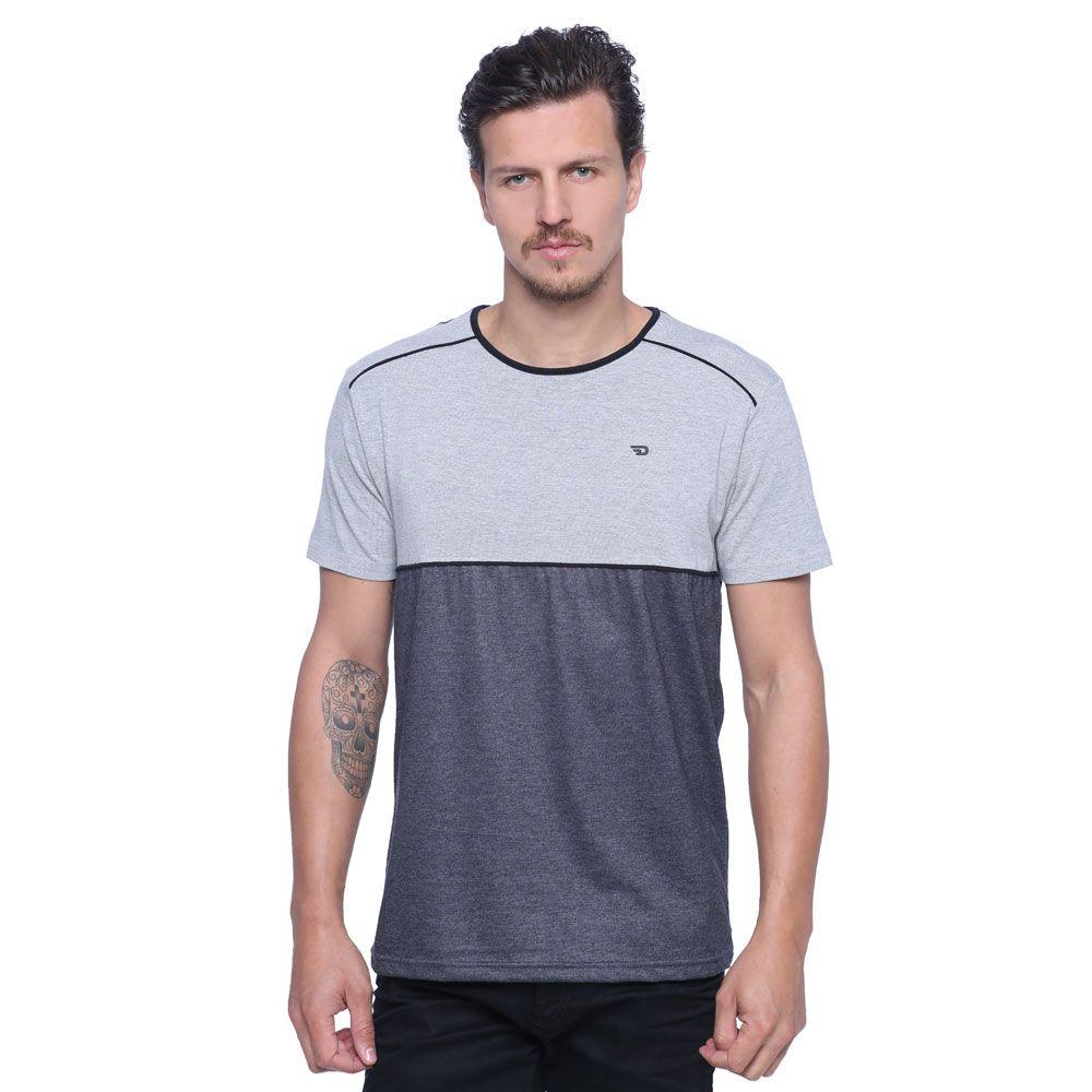 Camiseta Masculina Detalhe Viés - Damyller  3fce2b342ca
