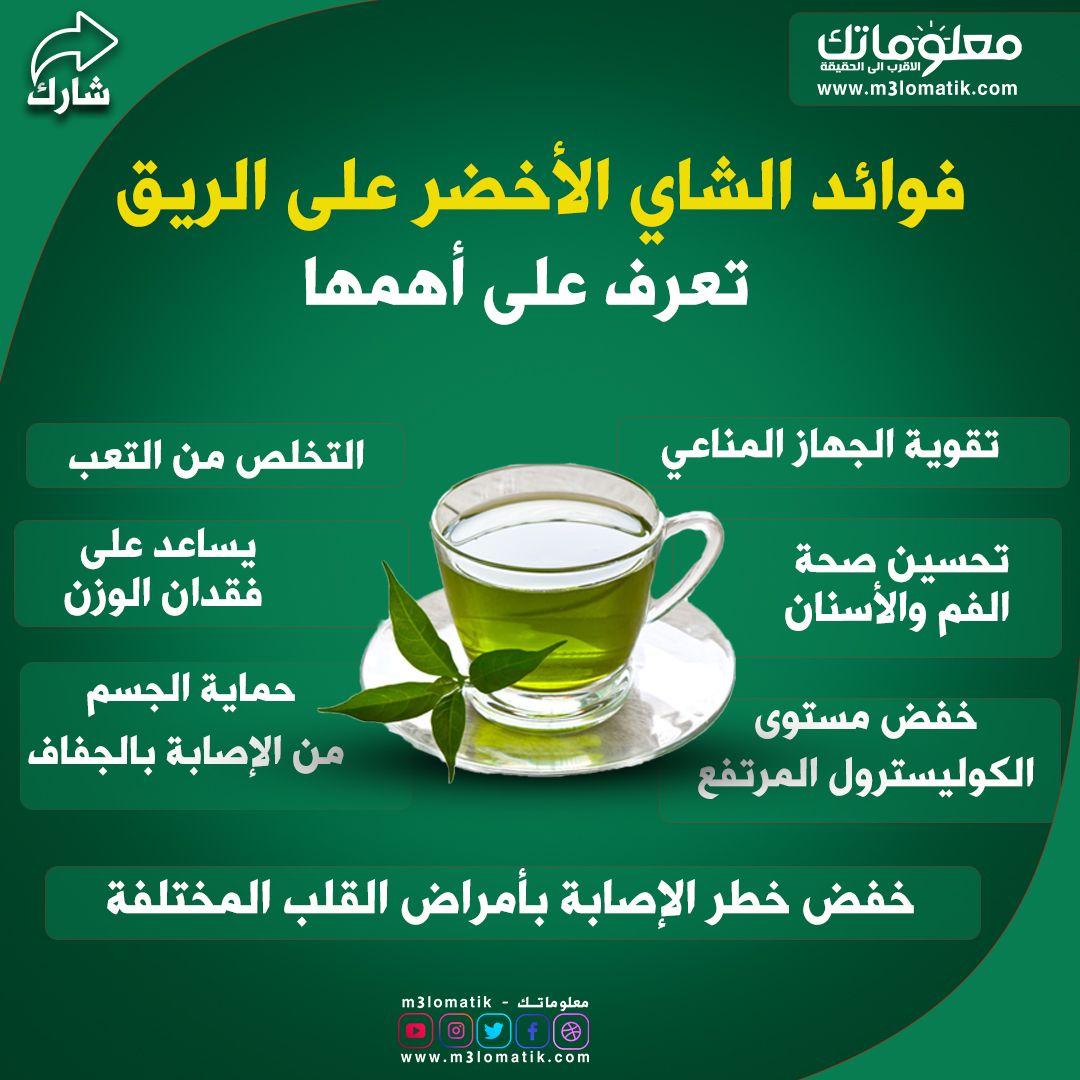فوائد الشاي الأخضر على الريق Health Tips Health Fitness Natural Remedies