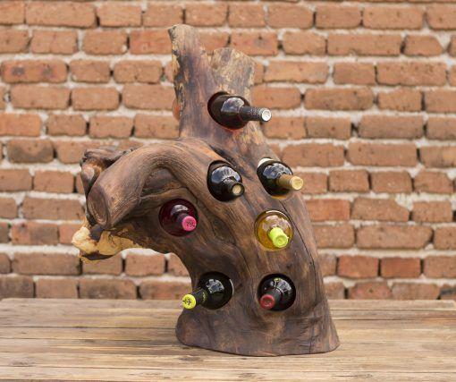 Log+wine+rack,+Wooden+wine+rack,+Riddling+
