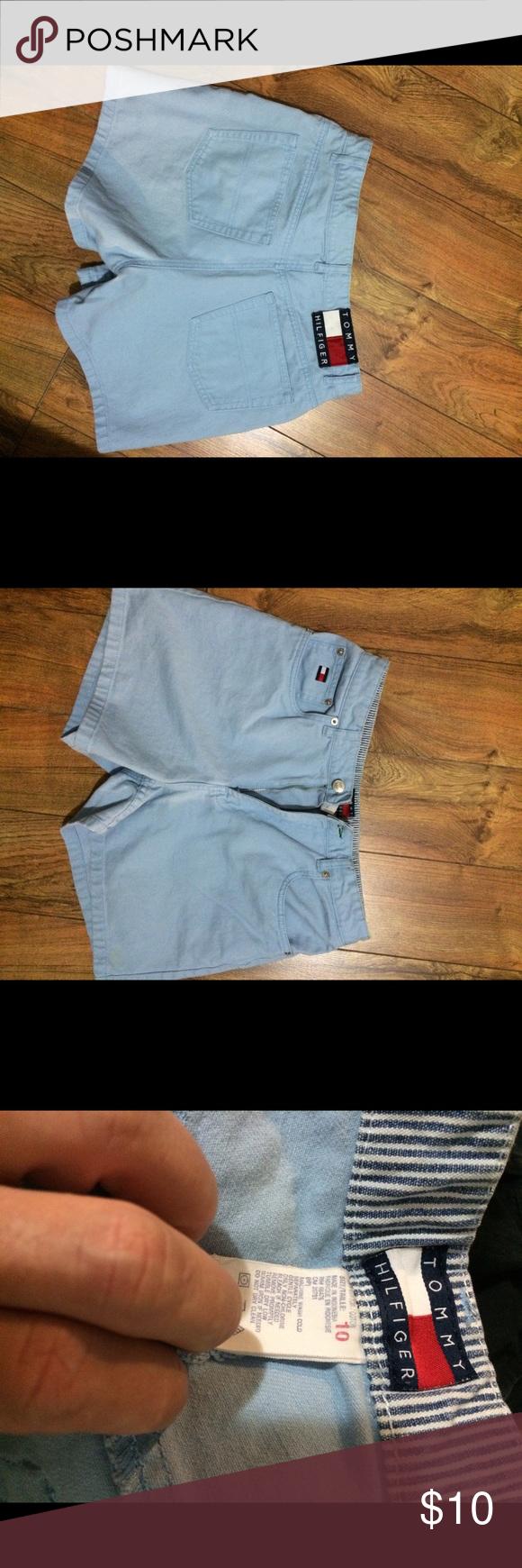 Tommy Hilfiger light blue denim shorts Excellent condition Tommy Hilfiger Shorts Jean Shorts