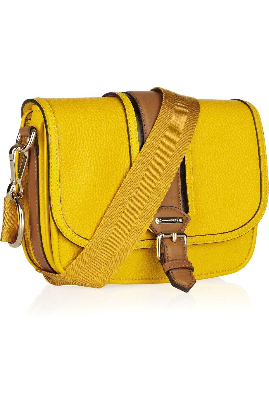 BURBERRY  Textured-leather crossbody bag