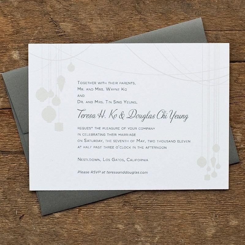 Image of lantern wedding invitation