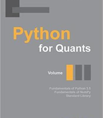 Python For Quants Volume I Pdf Learn Programming Computer