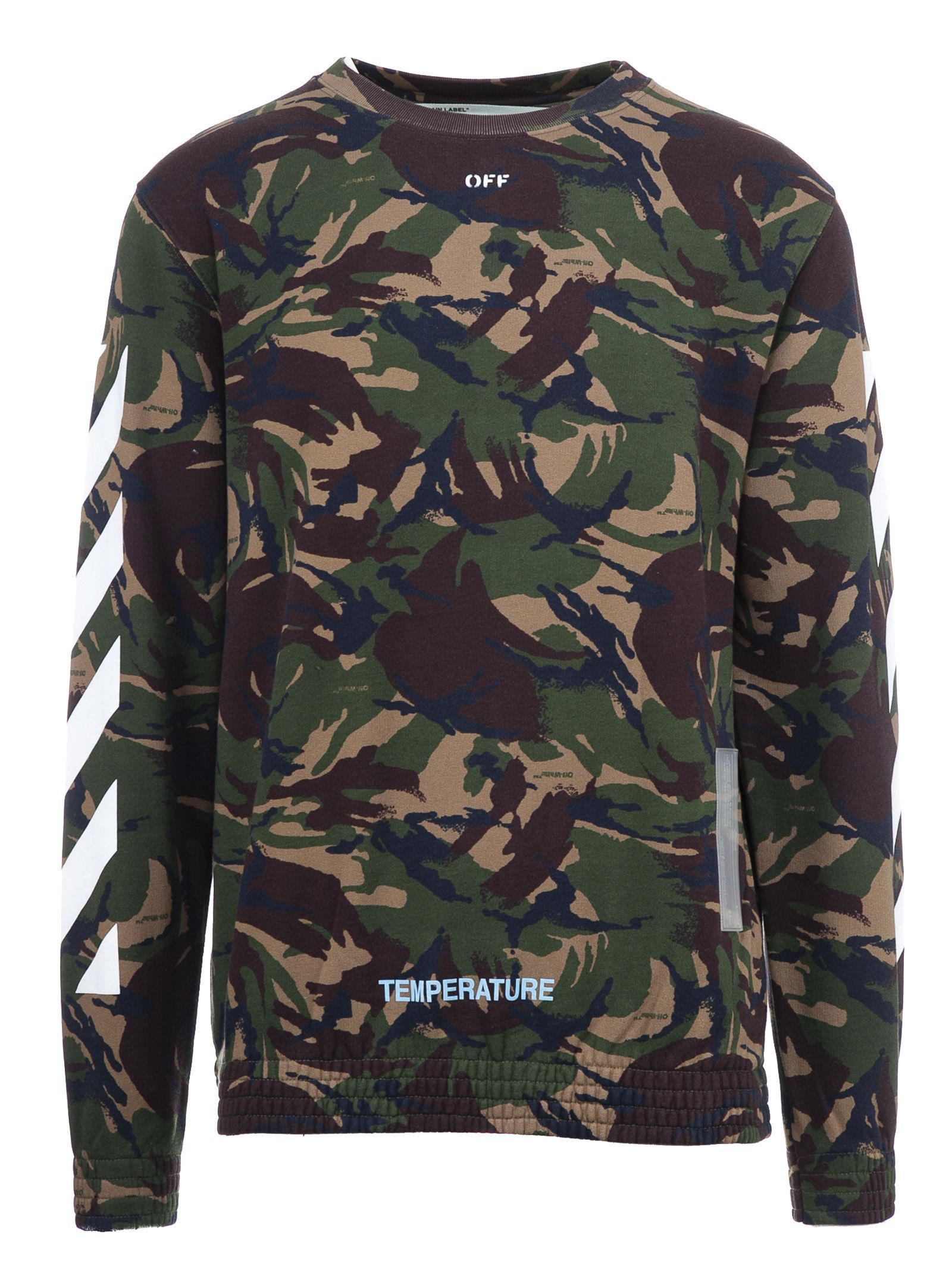 30008e904a83 OFF-WHITE CAMOUFLAGE SWEATSHIRT.  off-white  cloth