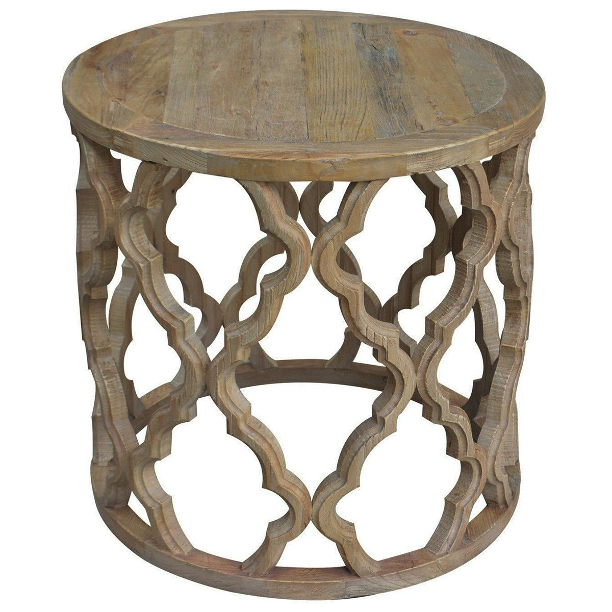 Sirah Recycled Timber Round Side Table 60cm 535 Side Table Furniture Glass Top Side Table [ 1200 x 1200 Pixel ]