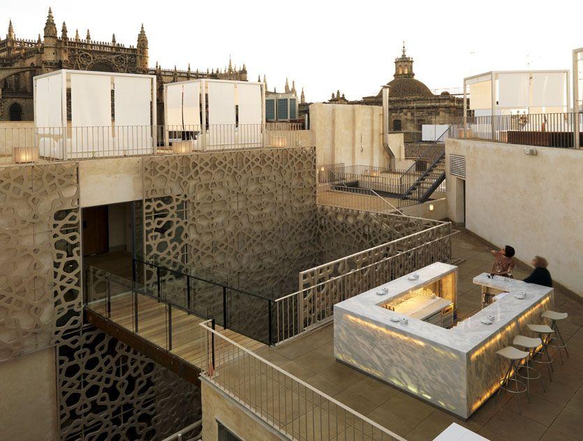 Eme fusion hotel sevilla celos a anterior rooftop pinterest hoteles sevilla y fachadas - Spa eme sevilla ...