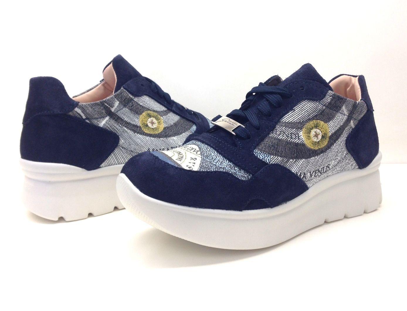 timeless design 6cd52 75cc5 GATTINONI scarpe donna sneaker lacci PEGVA6042WSB BEIGE,BLU ...