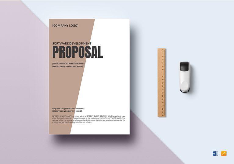 Software Development Proposal Template Software development