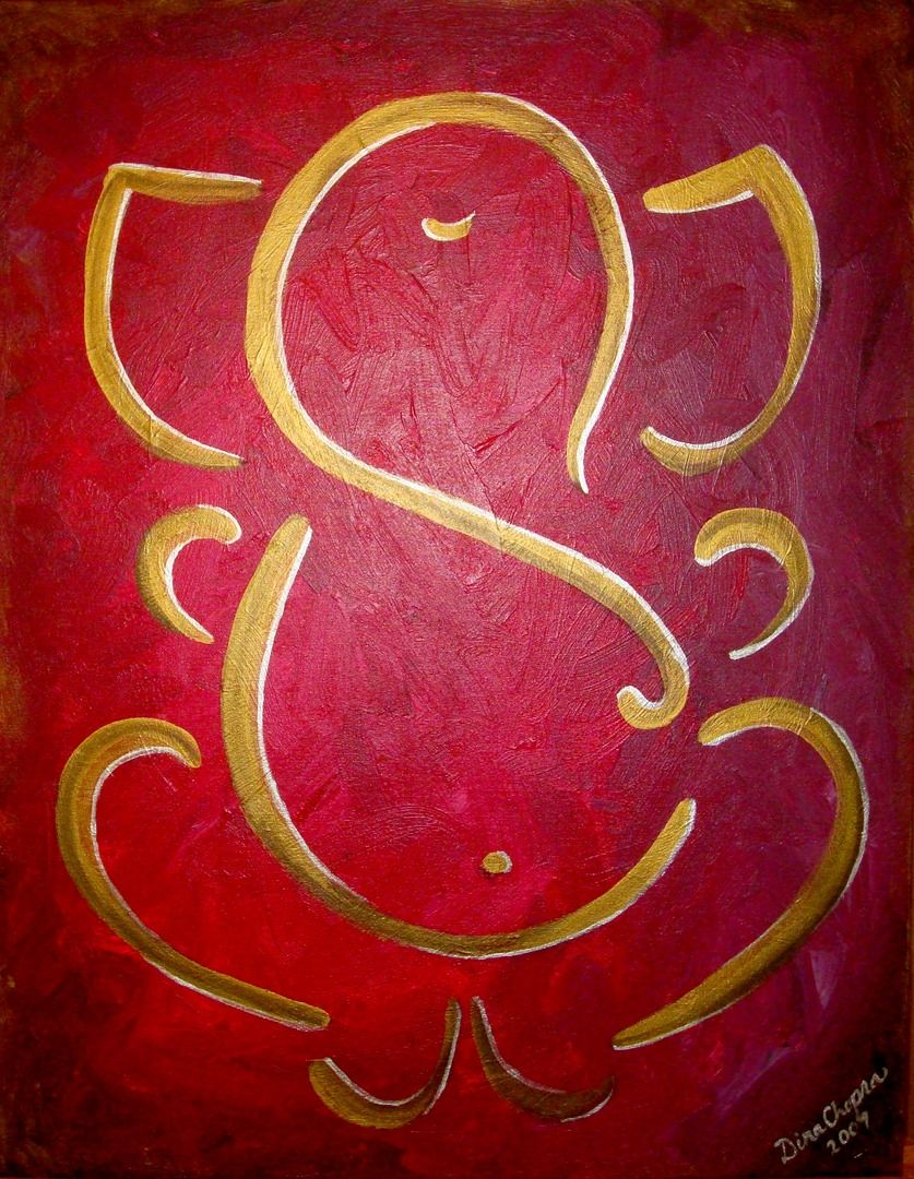 GANESH PAINTINGS, GANESH ART, HINDU ART | PAINTINGS ...
