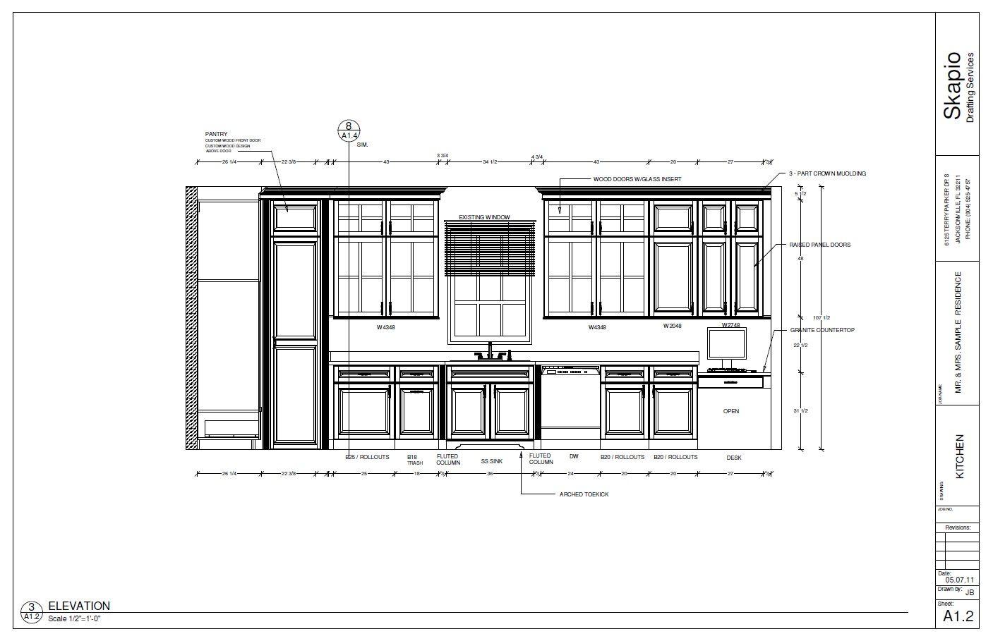 Sample Kitchen Elevation | Shop Drawings | Pinterest ...
