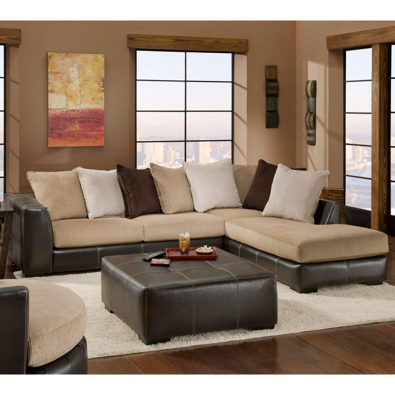 ottoman for living room%0A Chelsea Home Amherst   Piece Sectional Sofa  CHEL      Sectional CouchesLiving  Room
