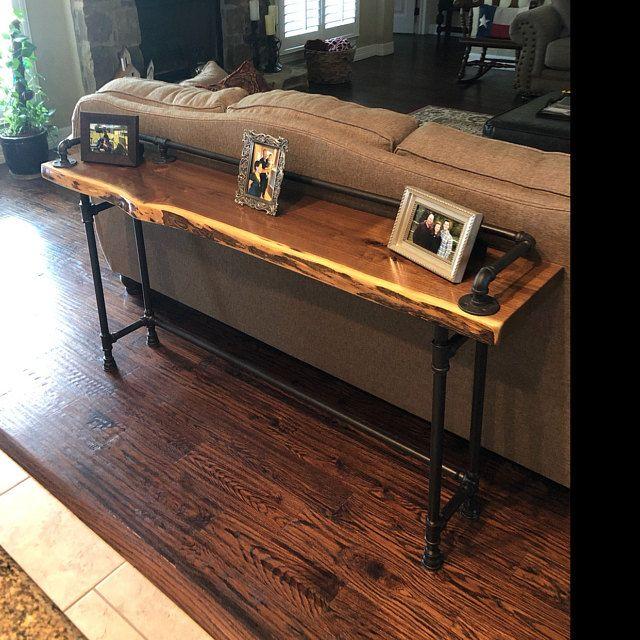 Rustic Gray Reclaimed Barn Wood Sofa Bar Table 8 Foot Etsy Reclaimed Barn Wood Barn Wood Bathroom Barn Wood