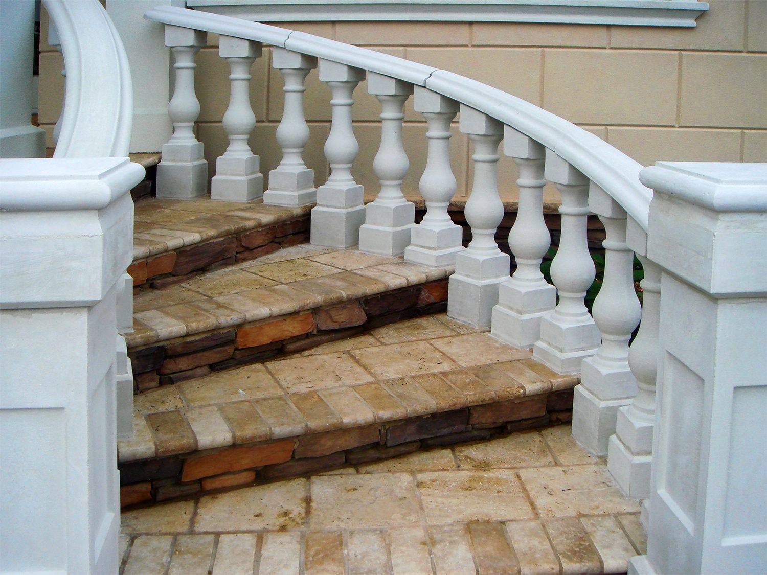 Perfect #Precast #balustrade System Using Our Curved #handrails. Enhances The Look  Of Any