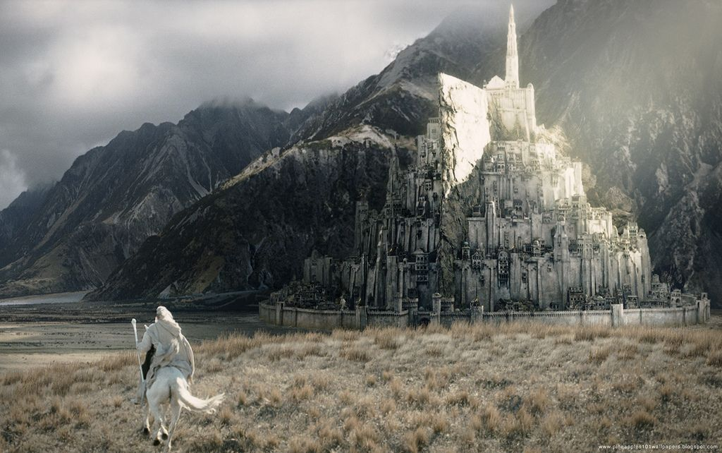 The Lord Of The Rings Desktop Wallpaper 1680x1050 01 Lord Of The Rings Minas Tirith Middle Earth