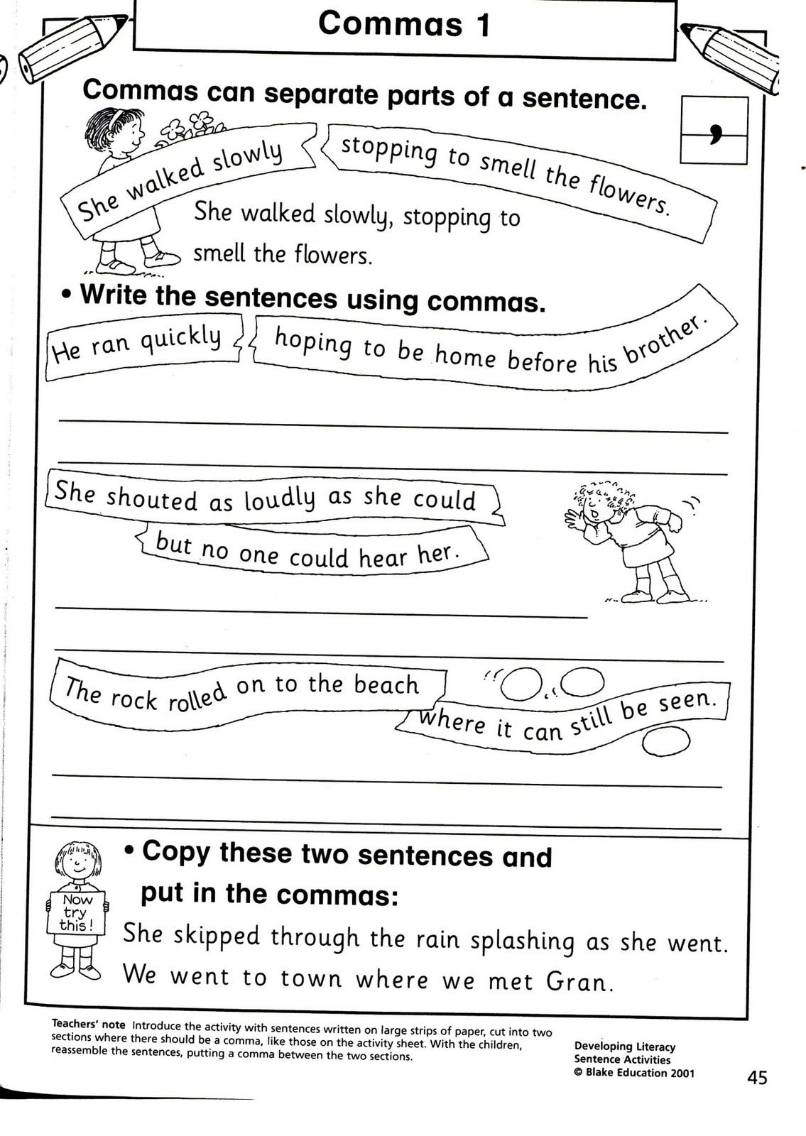 worksheet Commas In A Series Worksheets comma in a series worksheets image the students were little unsettled and chatty however