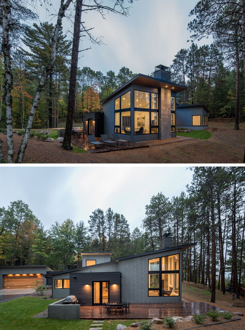 Northern Minnesota Lake House By Strand Design Modern Lake House House Exterior Modern House Design