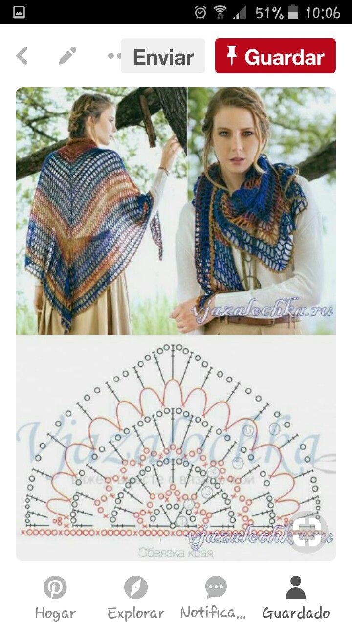 Pin by Carolina Herrera on Scarf | Pinterest | Ganchillo, Croché and ...