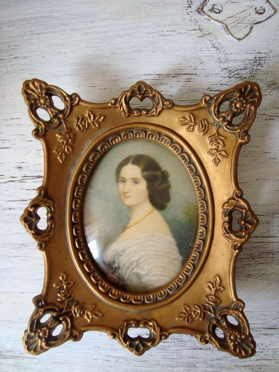 Vintage Cameo Creation Portrait of Comtesse by WillowsEndCottage